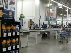 Temporary pharmacy, as seen from the checklanes