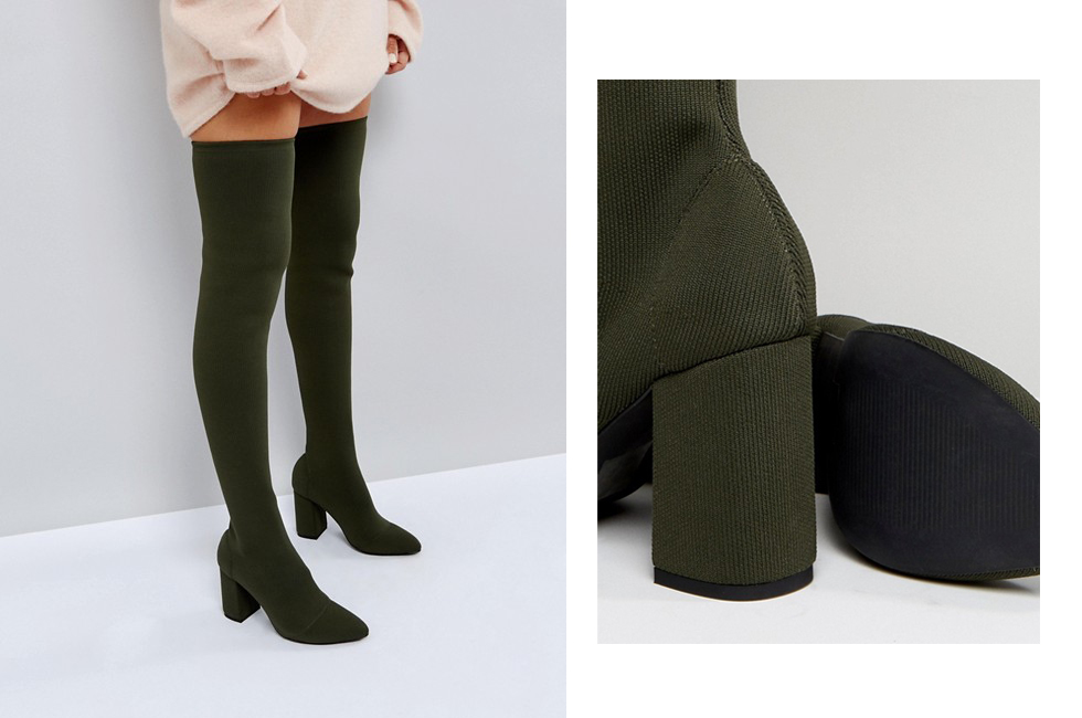 green-high-boots-tight-fashion-look-idea-fall-outfit-asos
