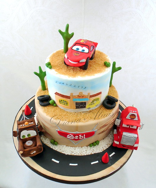 Amazing Cars Theme Cake from Diana Aluaş of Cake Art by Diana Aluaş