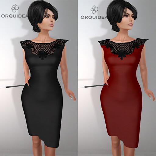 ORQUIDEA Pencil Dress smallad