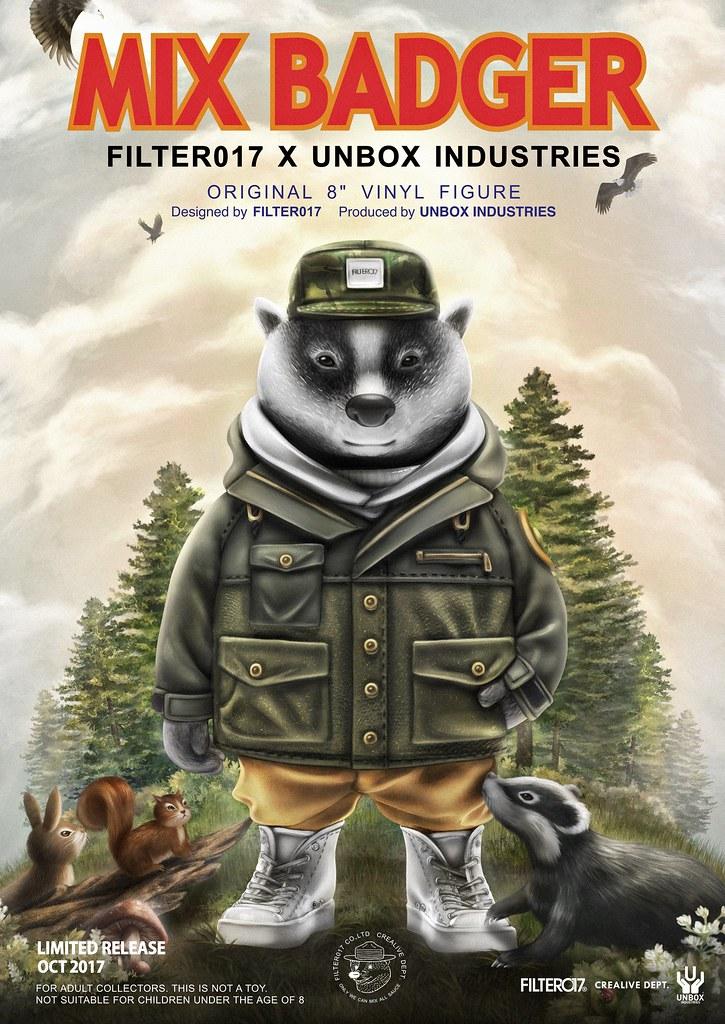 【官網正式開賣!】TTF 必搶軟膠傑作【Unbox Industries × Filter017 米斯獾軟膠公仔】玩具兵消光綠