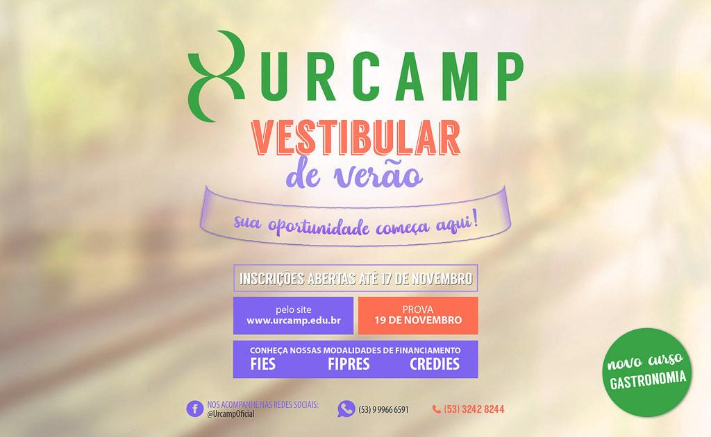Clique aqui para se inscrever no Vestibular Urcamp 2018