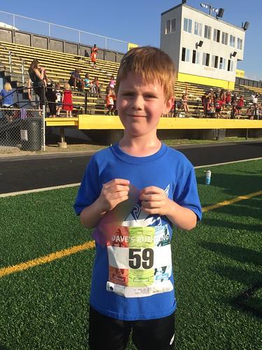 Connor's 1st Participant Ribbon!