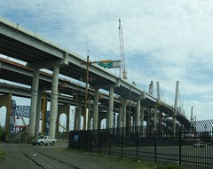 Goethals Bridge construction