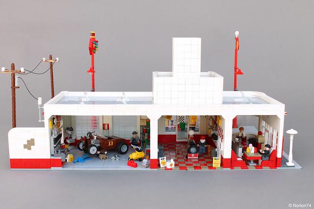 Art Déco Gas Station | back view