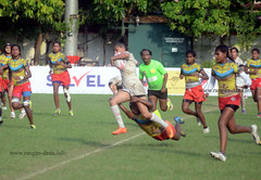 Women's Rugby Tackle