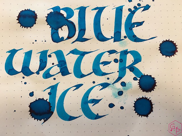 Ink Shot Review @RobertOsterInk Blue Water Ice @MilligramStore 9