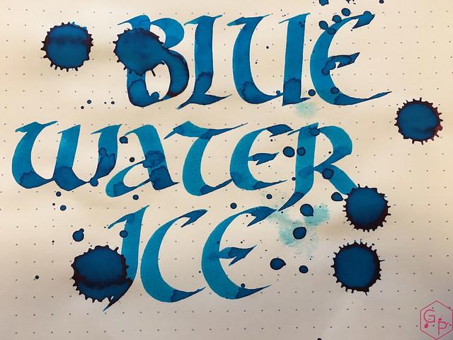 Ink Shot Review @RobertOsterInk Blue Water Ice @MilligramStore 9