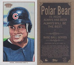 2002 Topps 206 Mini Baseball Card / Series 1 / Polar Bear - SAMMY SOSA #2 (Outfielder) (Chicago Cubs)