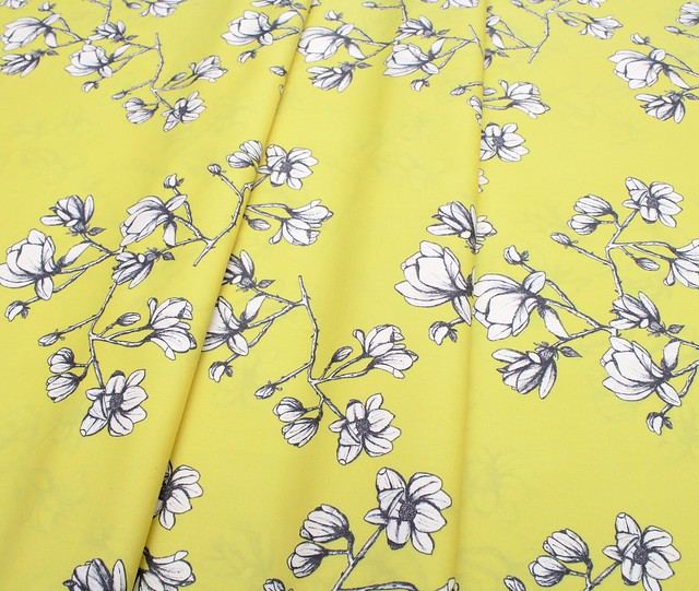 Art Gallery Fabrics Wild Bloom Magnolia Study Zest