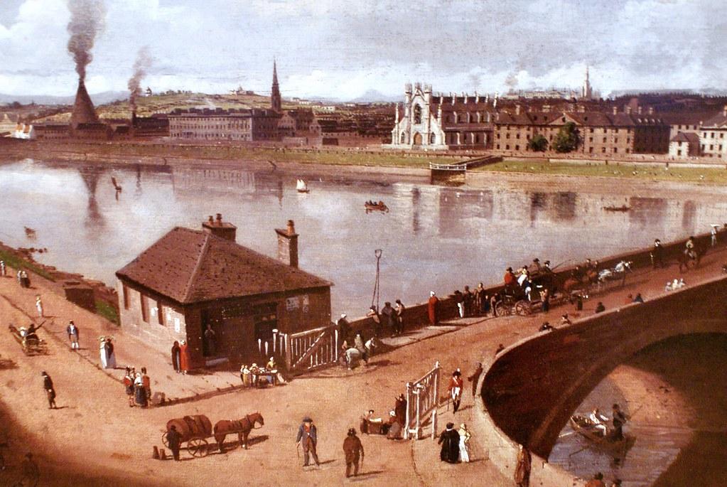 Rivière Clyde traversant Glasgow avant de plonger dans la mer. People palace museum de Glasgow.