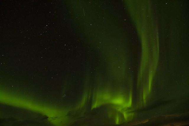 Aurora Borealis seen from Arctic Seasport