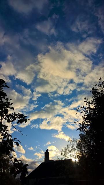 Autumn Sky. Oxfordshire UK.