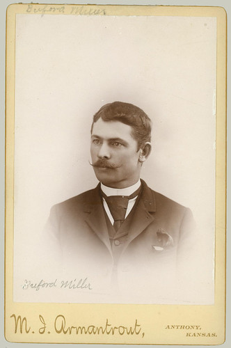 Cabinet card man, Buford Miller