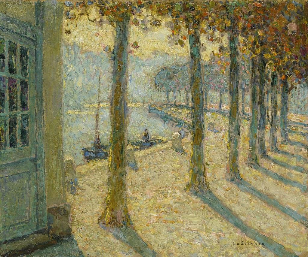 Henri le Sidaner - Les Arbres de la Rive, Quimperlé [1923]