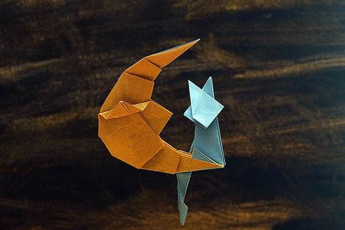 Origami Crescent Moon (Kakami Hitoshi)