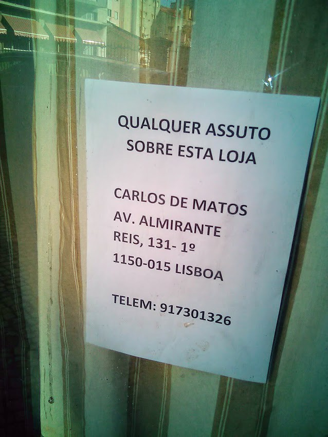 «Qualquer assuto», Lisboa — (c) 2017