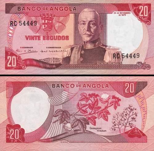 20 Escudos Angola 1972 P099