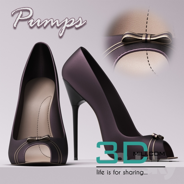 33  Eamz Pump Shoes - 3D Mili - Download 3D Model - Free 3D
