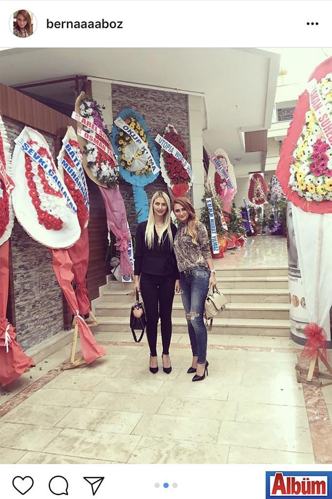 Berna Boz, Melek Şimşek ile birlikte Dermalanya Sağlıklı Yaşam & Güzellik Merkezi'nin açılış törenindeydi.