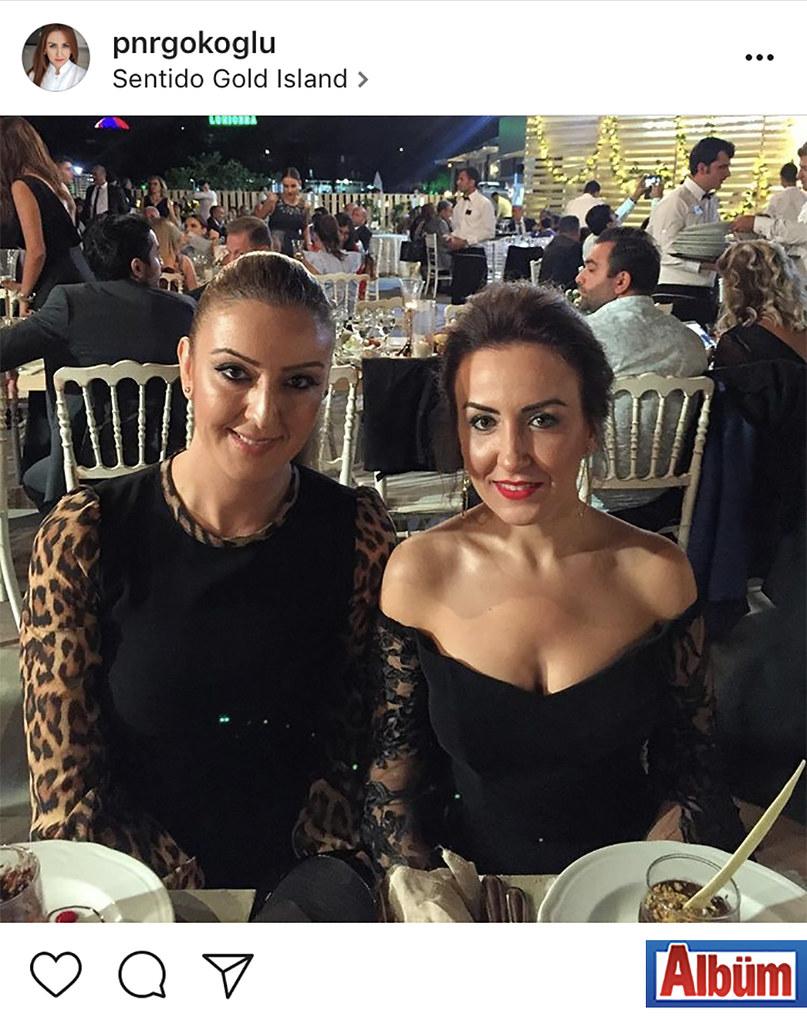 Diş Hekimi Nezihe Pınar Gökoğlu, arkadaşı Filiz Duman ile birlikte Sentido Gold Island'da düzenlenen düğün töreninde keyifli bir akşam geçirdi.