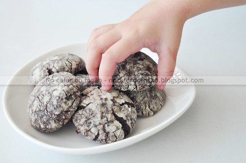 Cookies craquelados de brownie da Dorie