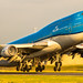 KLM departing for another big trip.