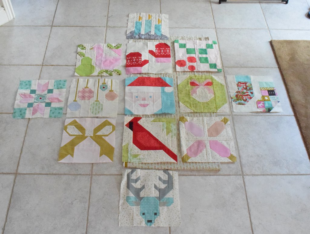Jolly little Christmas Quilt planned layout