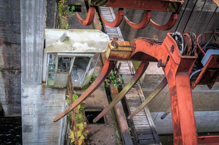 Kimolan kanava työmaakoppi metallinostin tukinuitto urban exploring ue  (1 of 1)