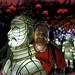 Craig and Terracotta Army in lights at Blackpool Illuminasia