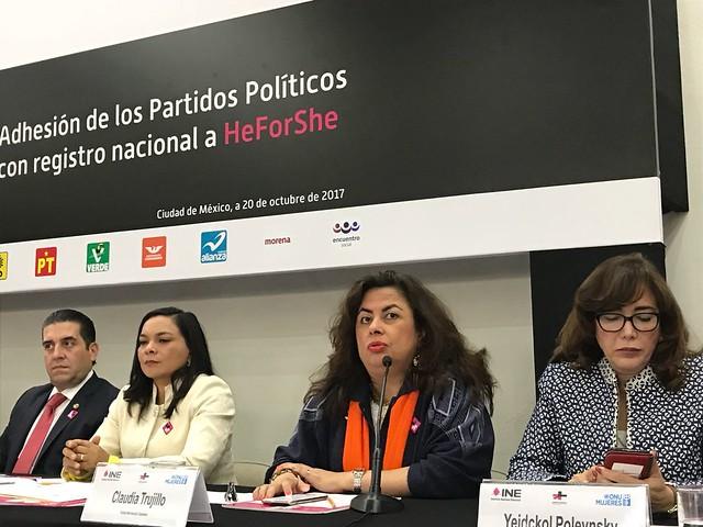 Firma Movimiento Ciudadano 5 compromisos en el marco de #HeForShe