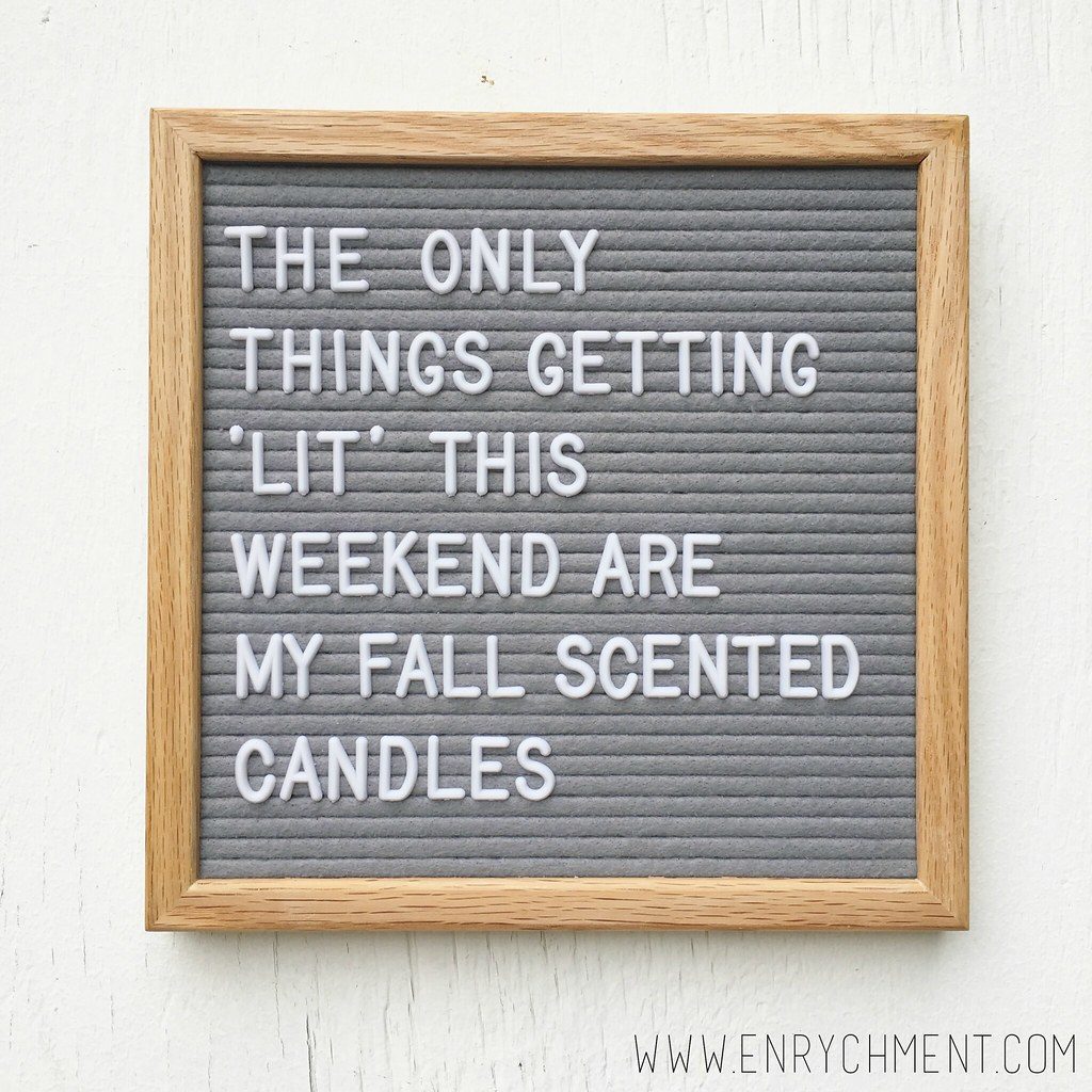 Fall Candles Letter Board