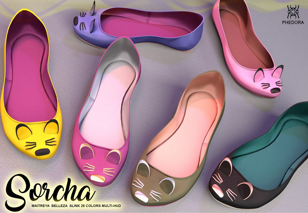 "Phedora for Uber Event- ""Sorcha"" ballerina shoes ♥"