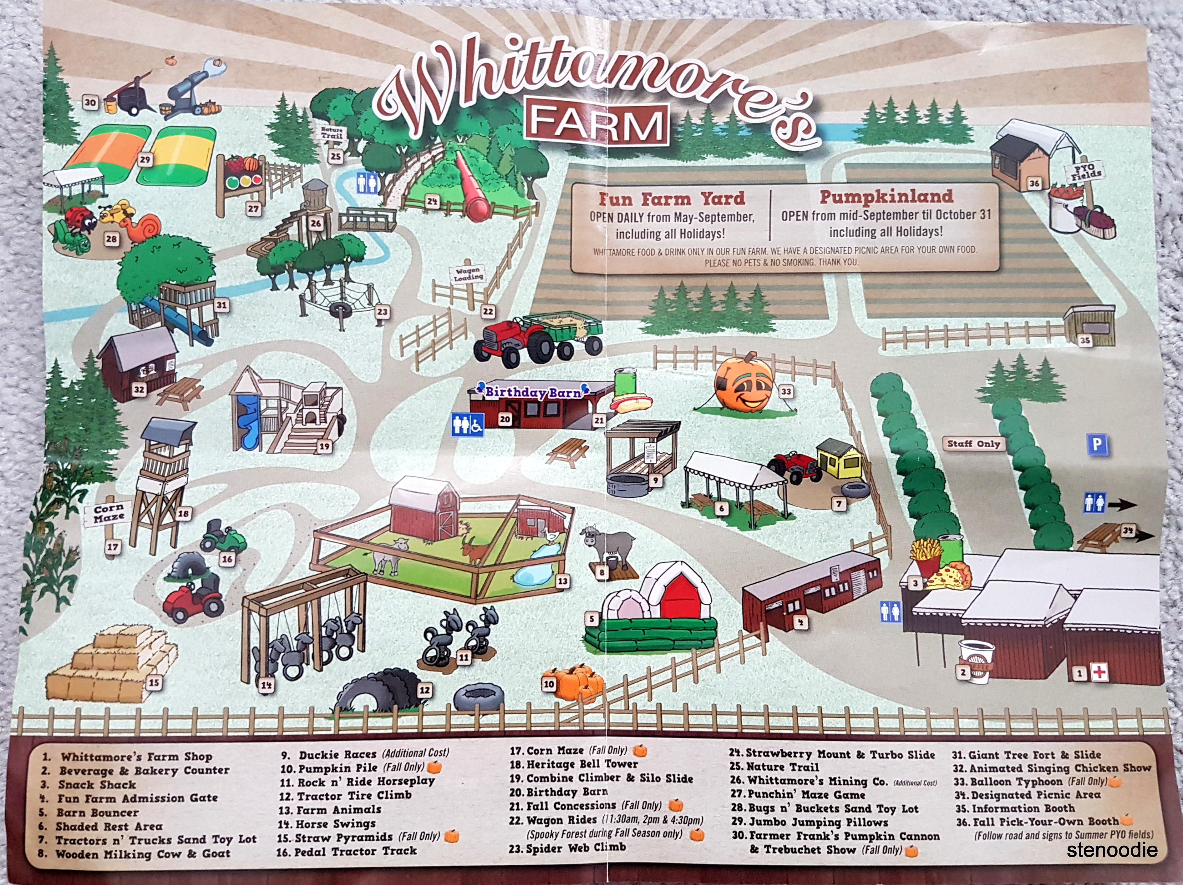 Map of Whittamore's Farm