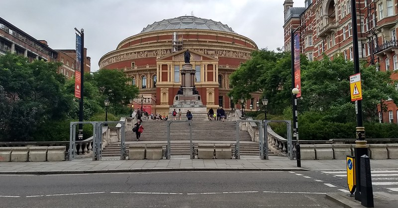Safety bollards outside Royal Albert Hall, London