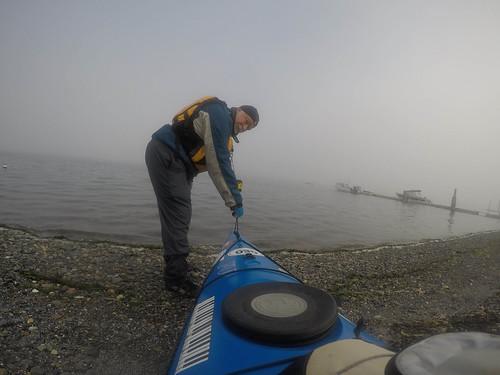 Samish Island Paddling in Fog-1