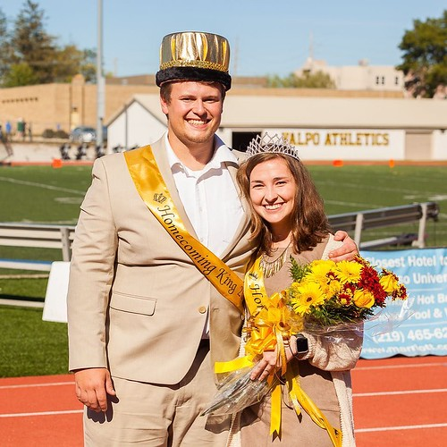 There's new royalty in town! Valpo congratulates Nick Eder and Abby Larson, our 2017 Homecoming King and Queen! #ValpoHome17