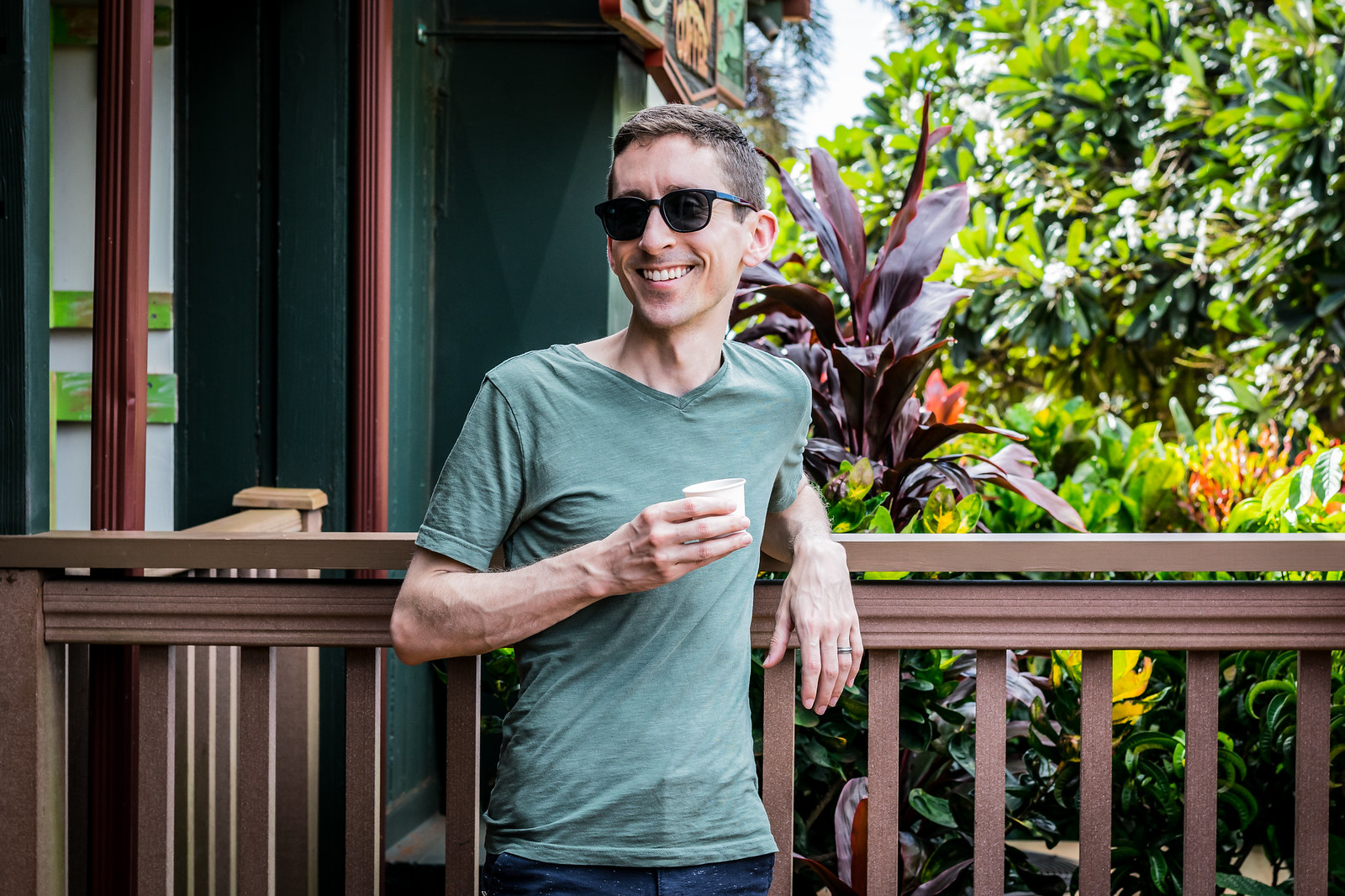sampling the local specialty at Kauai Coffee