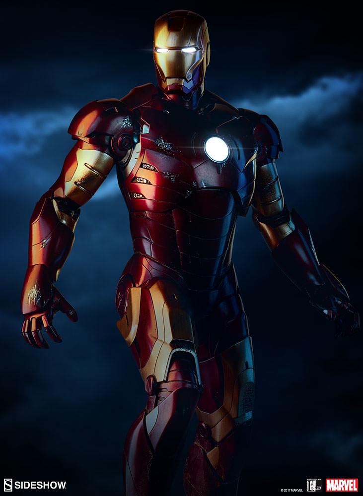 充分表現出大戰結束的氣氛! Sideshow Collectibles 鋼鐵人【鋼鐵人馬克3】Iron Man Mark III Maquette 全身雕像作品