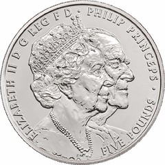 Queen and Prince Philip 70th Anniversary coin obverse