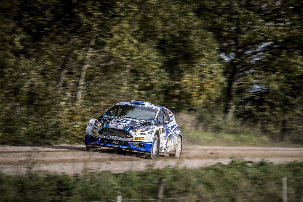 10 Rovanperä Kalle and Halttunen Jonne, Ford Fiesta R5 action during the 2017 European Rally Championship ERC Liepaja rally,  from october 6 to 8, at Liepaja, Lettonie - Photo Gregory Lenormand / DPPI