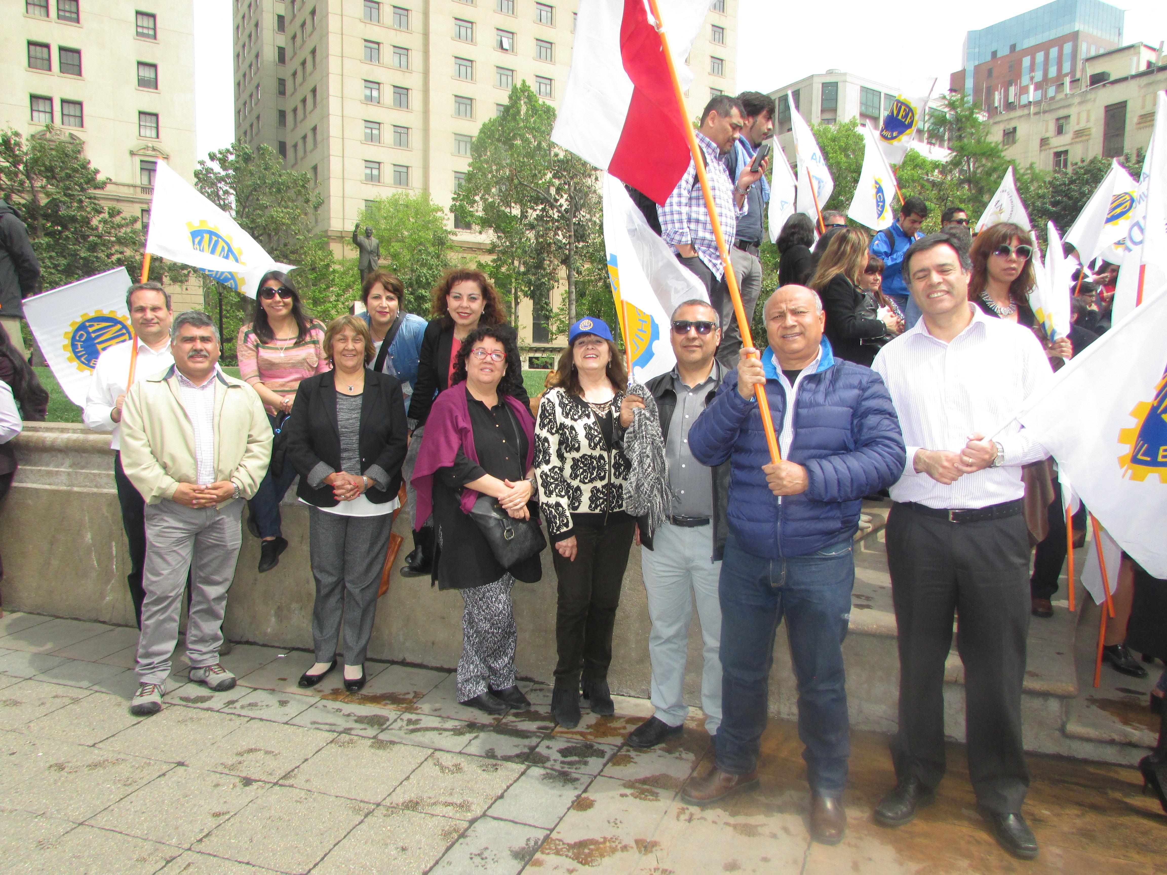 AET participó en Jornada de Protesta y Movilización MSP-CUT – 17 Octubre 2017