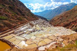 Vista of Maras Salt Mines, Maras, Peru