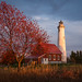tawas lighthouse in autumn by karehav