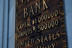 National Valley Bank plaque