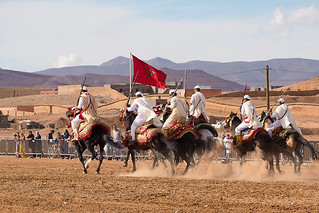 Morocco traditional berber riders show