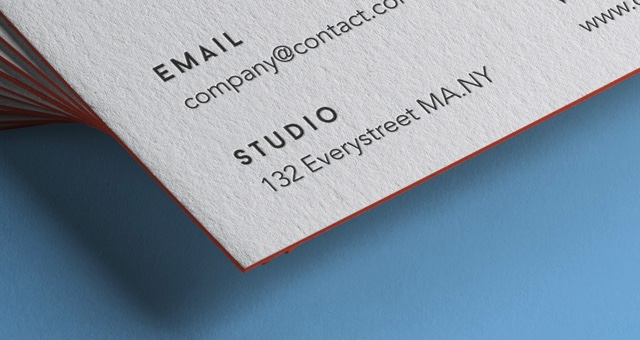 Stack of Business Cards Mockup 2