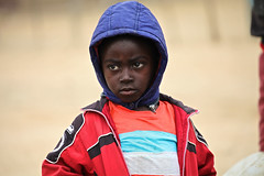 Namibia, young boy in township