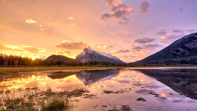 Sunrise at Vermilion Lakes, Banff National Park