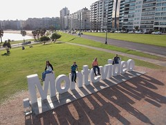 Atop the iconic Montevideo sign